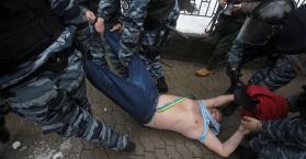 """اعتقال 12 من أفراد قوات مكافحة الشغب """"بيركوت"""" في أوكرانيا"""